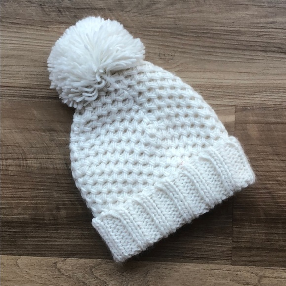 894f6f8f Old Navy Accessories | Baby Girl Knitted Hat With Pom Pom Off White ...
